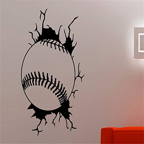 Baseball Kreative Wandtattoos Aufkleber Vinyl Sport Serie Wandbild Für Zuhause Jungen Kinderzimmer Schlafzimmer Coole Decor Art Wallpaper rot 42x58 cm Serie Plotter
