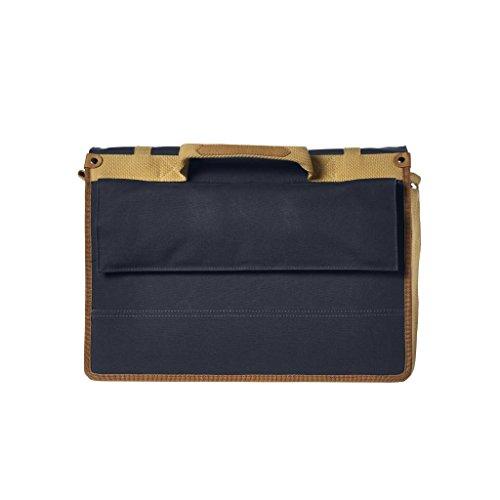 Luxus Messenger Bag mit Hook-On System für Fahrrad - 20 Liter - Schultertasche für Herren Blau