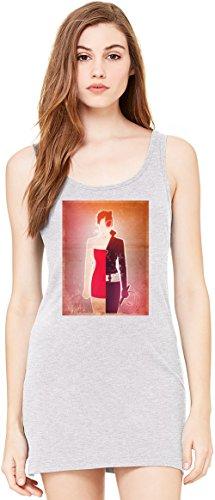 Supergirl Illustration Bella Basic ärmellose Tunika Sleeveless Tunic Tank Dress For Women| 100% Premium Cotton| X-Large (Supergirl Tank Kleid)