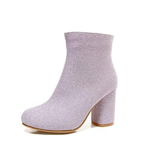 Damenstiefeletten, Wasserdichte Plattform High-Heel Mode Stiefel Damen Dicke -