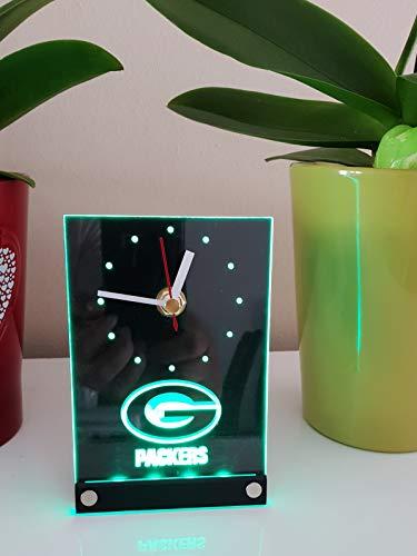 Green Bay Packers Led Tischuhr Tischlampe Neonschild Neu 3D Neon Uhr Wanduhr (Bay Ac)