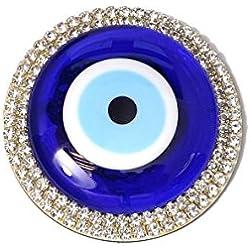 Wanddeko Wandschmuck Deko Aufkleber - Glass Rund - Türkisches Auge Nazar Boncuk - Glücksbringer