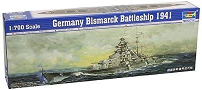 Maquette bateau: Cuirassé allemand Bismarck 1941