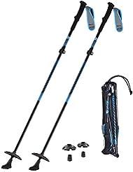 HUKOER Bâton de Marche télescopique - Alpenstock Pliable - Bâton Anti-choc et Anti-glissant - Convient à Ski/Randonnée/Alpinisme/Camping/Trekking