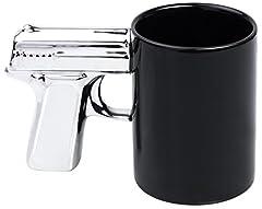 Idea Regalo - Tazza mug impugnatura a forma di pistola - Nero Motivo