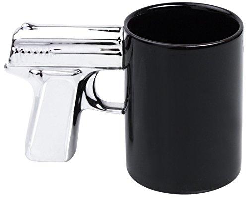 Tasse en céramique avec poignée motif - Noir \