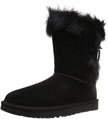 Ugg Australia Womens Deena Black Suede Boots 39 EU (Suede Buckle Boot)