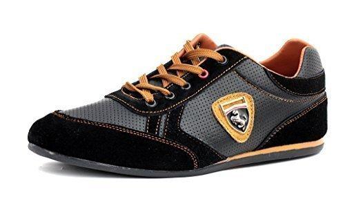 Scarpe Da Ginnastica Da Uomo Casual Pizzo Pelle Abito Elegante scarpe  misura inglese f5f2bc692ea