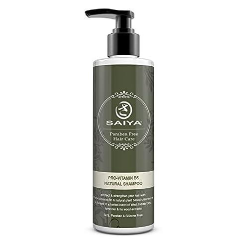 Amazing Provitamin B5 Natürliches Shampoo Alternative von Saiya – Bio SLS, Silikon & parabenfrei Panthenol Hair Care Formular – Ätherische Öle Umwerfendes Aroma – Gewählt bei Allround-Athleten sowie von Schwimmern als beste Wahl für gesunden Schutz für Haar und Kopfhaut- 250ml
