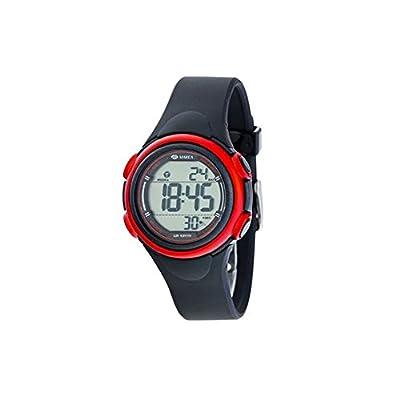 Reloj Marea Digital B44093/1 Silicona Negra Y Detalles Rojos