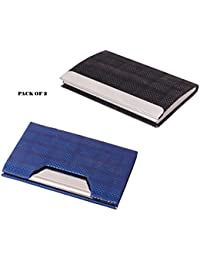 Pack Of 2pcs RFID Steel ATM / Visiting/ Credit, PAN/ID Card Holder, Business Card Case Holder, Money Holder, For... - B07BVTWKRW