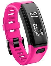 Malloom Nuevo reemplazo pulsera de silicona suave pulsera WristBand con destornillador para Garmin Vivosmart HR (Rosa caliente)