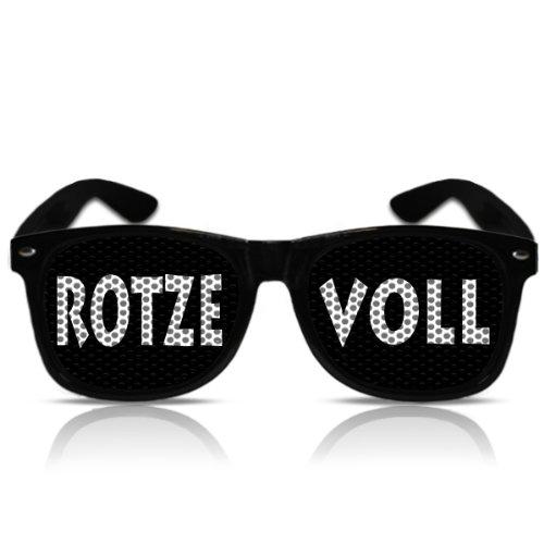 Party Spass Nerd Porno Atzenbrille Partygag Funbrille Fasching Karneval Rotze Voll (NERD schwarz)