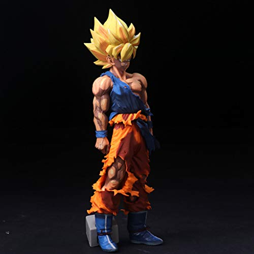 WJP Estatua de Juguete Dragon Ball Estatua de Juguete Exquisito Anime Decoración Decoración Saiyan Modelo de Juguete Super Saiyan Sun Wukong 35 CM Comic Color