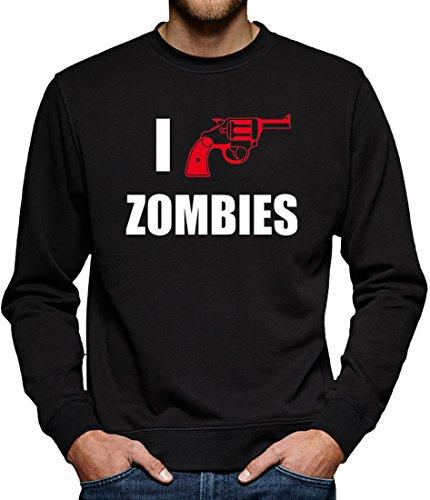 TLM I Shoot Zombies Sweatshirt Pullover Herren XXXL Schwarz (Dead Biker Halloween Kostüme)