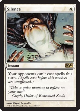Magic: the Gathering - Silence (35/249) - Magic 2014 - Foil by Wizards of the Coast