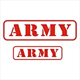 #5: Isee360 INDIAN ARMY Reflective car decal Windows Hood Sides sticker-2 Stickers Include Standard Size for Bike & Car