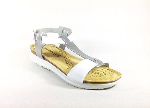 Sandálias Multicolorida Cinzento Inblu Branco Femininas Eqwwp5C