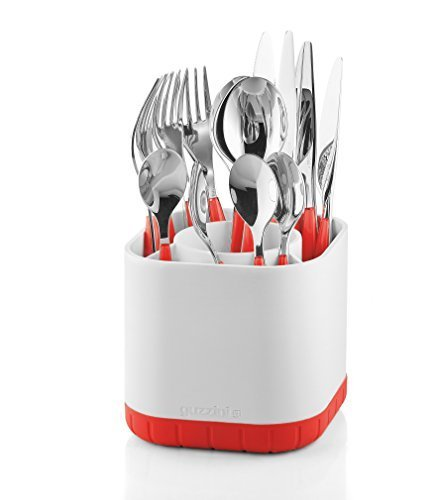 Fratelli Guzzini 2901.0055Cutlery Drainer Drying Rack and Wringing Kitchen–Kitchen Drying Racks and Wringing (Table, Cutlery Drainer, Red, Niklas Jacob, My Kitchen)