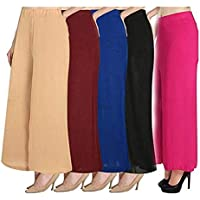 New Deal Women's Salez Counter Palazzo Combo Set of 5 (Multicolour, Free Size)