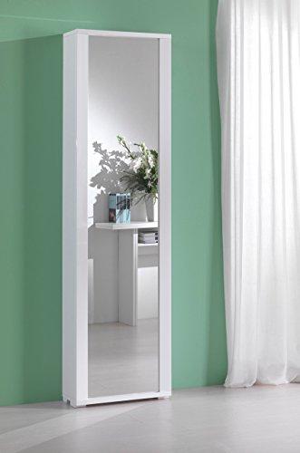 Colonna contenitore bianca con sportello a specchio | milleusi