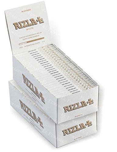 5000 CARTINE RIZLA BIANCHE CORTE 100 PZ LIBRETTI WHITE 2 BOX