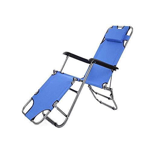 YINGYING Multifunktionale Outdoor Tragbare Strand Liegestuhl Büro Erwachsene Falten Mittagspause Stuhl Einfache Garten Mit Kissen Faul Bett -
