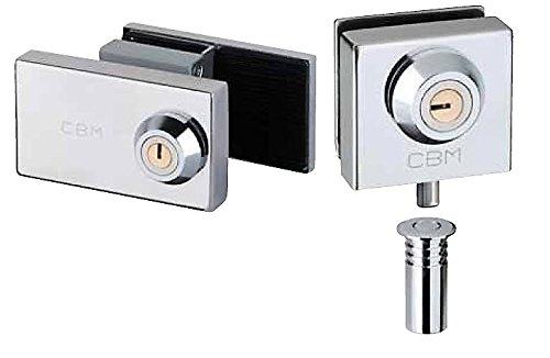 Cerradura suelo y cerradura media altura CBM para puerta de cristal. M