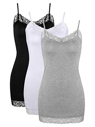 Satinior Damen Top Gr. XX-Large, 3 Pack -