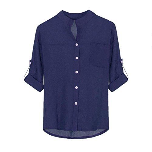 Top da donna stand collare solido maglia a maniche lunghe camicetta casual top tinta unita camicia coreana