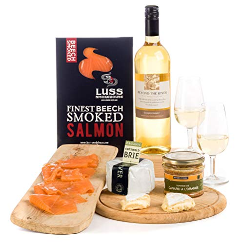 Hay Hampers Chardonnay, Cheese, Pate & Salmon Hamper Gift Box - Free UK Delivery