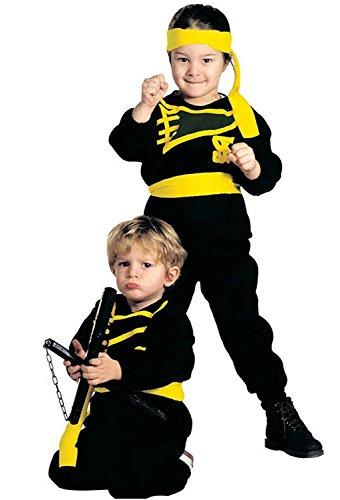Widmann Größe 110 - 3 - 4 Jahre - Kostüm - Verkleidung - Karneval - Halloween - Ninja Warrior - Farbe Schwarz - - Ninja Warrior Kind Kostüm