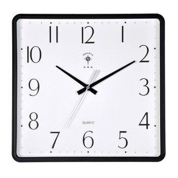 Wall clocks orologio da parete campana famiglia pendolo moderno salotto quadrato muto tavolo appeso semplice orologio calendario perpetuo camera da letto creativo orologio al quarzo bianco 6819