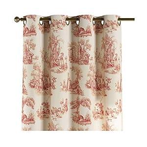 Vorhang mit Ösen - Toile Vintage Rot/Ecru - maßgefertigt