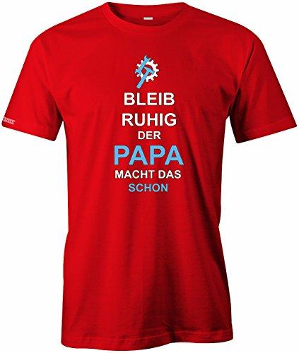 Jayess Bleib Ruhig der Papa Macht Das Schon - Herren - T-Shirt by Gr. S bis XXXL Rot