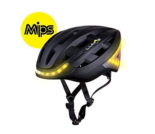 LUMOS Kickstart - Casco da Bicicletta, Unisex, 220001001, MIPS Charcoal Black, Taglia Unica