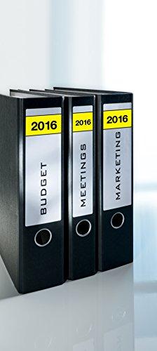 Avery propósito forma L4761J16-20folder-labels con año 2016, 61x 192mm, 20hojas, 80pcs, blanco/amarillo