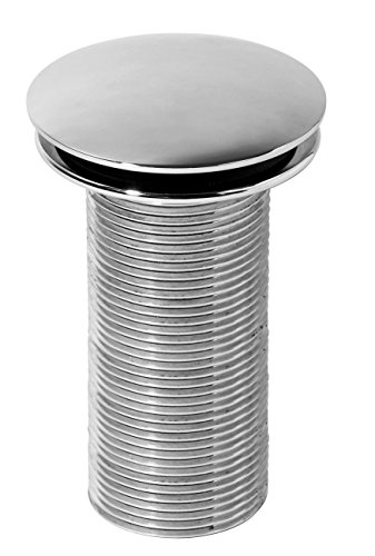 Wirquin 30718711Abfluss-Stopfen Design Waschbecken Quick Clac 100mm Messing verchromt (Abfluss Stopfen Waschbecken)