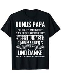Herren Bonus Papa Stiefvater Leben besser gemacht Geschenk T-Shirt