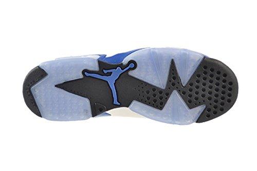 Nike Air Jordan 6 Retro Bg, Chaussures de Sport Garçon, Noir white/sport blue-black