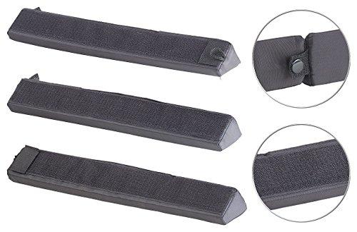PEARL Kofferraum Sicherung: Kofferraum-Gepäckfixierung aus Schaumstoff/Nylon, mit Klett, 3-teilig (Kofferraum Befestigung)