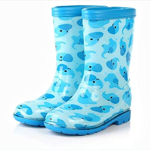 XSYYQYLL Baby Stiefel Jungen Schuhe Kinderschuhe Mädchen Mode Regen Stiefel Baby Gummistiefel Jungen Schuhe Mädchen Schuhe (Color : Sky Blue, Size : 12)