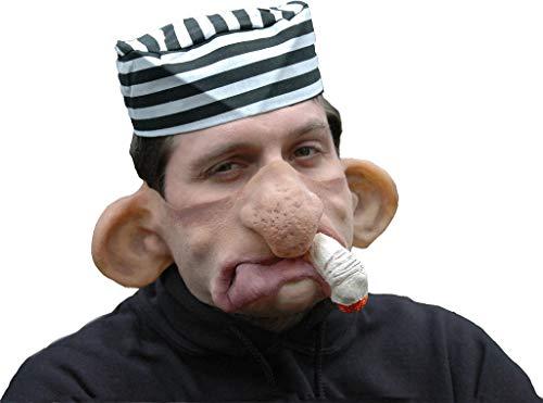 Sträfling Maske aus Latex - Partymaske Kalle Qualm (Insasse Kostüm)