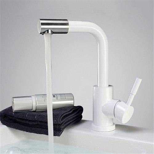 Retro Deluxe Fauceting 3 colars wählen 304 Edelstahl gebürstet Waschtischmischer drehbare Badezimmer Waschtisch Armatur Waschbecken Wasserhahn, K 209 W