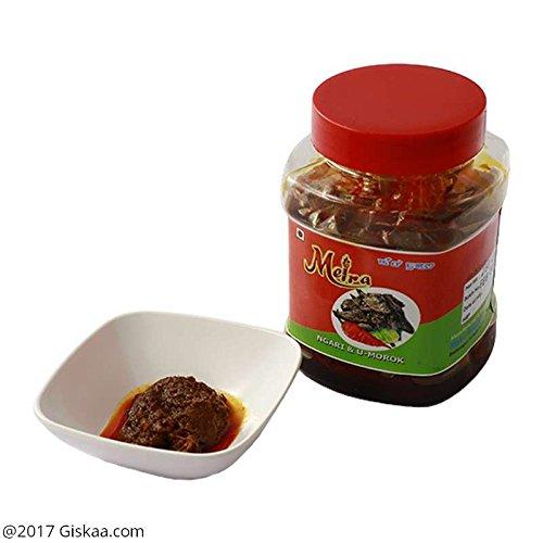 GISKAA Fermented Fish (Ngari) and King Chilli/Bhut Jolokia Pickle (Non-Veg) -250 g