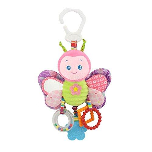 friendGG❤️❤️Kinder Spielzeug, Lernspielzeug,Junge Spielzeug ,Mädchen Spielzeug,Kinderwagen Spielzeug Plüsch Tier Rassel Bett Bell Infant Baby Komfort Spielzeug (A)