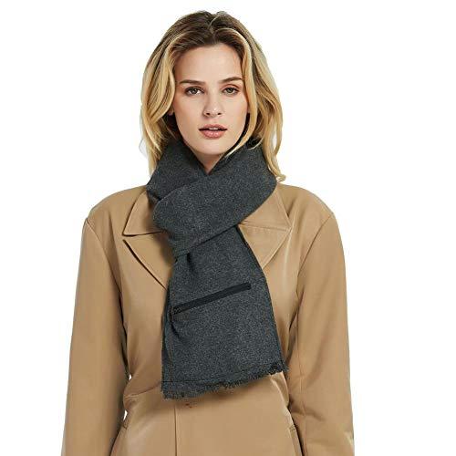 Courti sciarpa riscaldata elettrica usb sciarpa riscaldante calda invernale scaldacollo morbido lavabile manutenzione intelligente del termostato 22x180cm