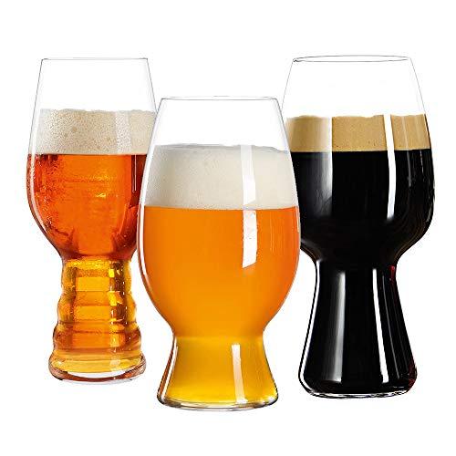 Spiegelau & Nachtmann, 3-teiliges Kraftbier-Glas-Set, Tasting-Kit, Kristallglas, 540/ 600/ 750 ml, 4991693, Craft Beer Glasses