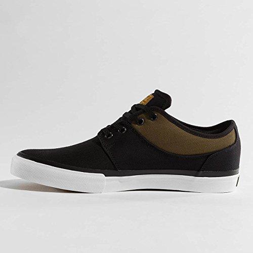 Globe - Mahalo, Scarpe da Skateboard Uomo Schwarz (Black Twill/Olive)