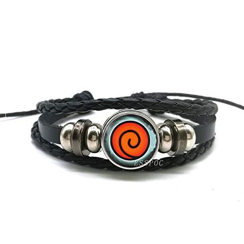 Armbänder Für Herren Rinnegan Augen Naruto Armband Sharingan Eye Schwarz Leder Armband Uchiha Uzumaki Clan Logo Anime Cosplay Liebhaber Geschenk